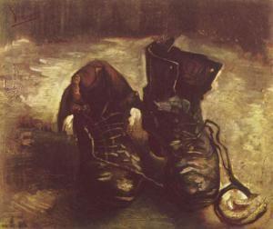 Vincent van Gogh, zapatos viejos - Museo Van Gogh, Amsterdam (Países Bajos)