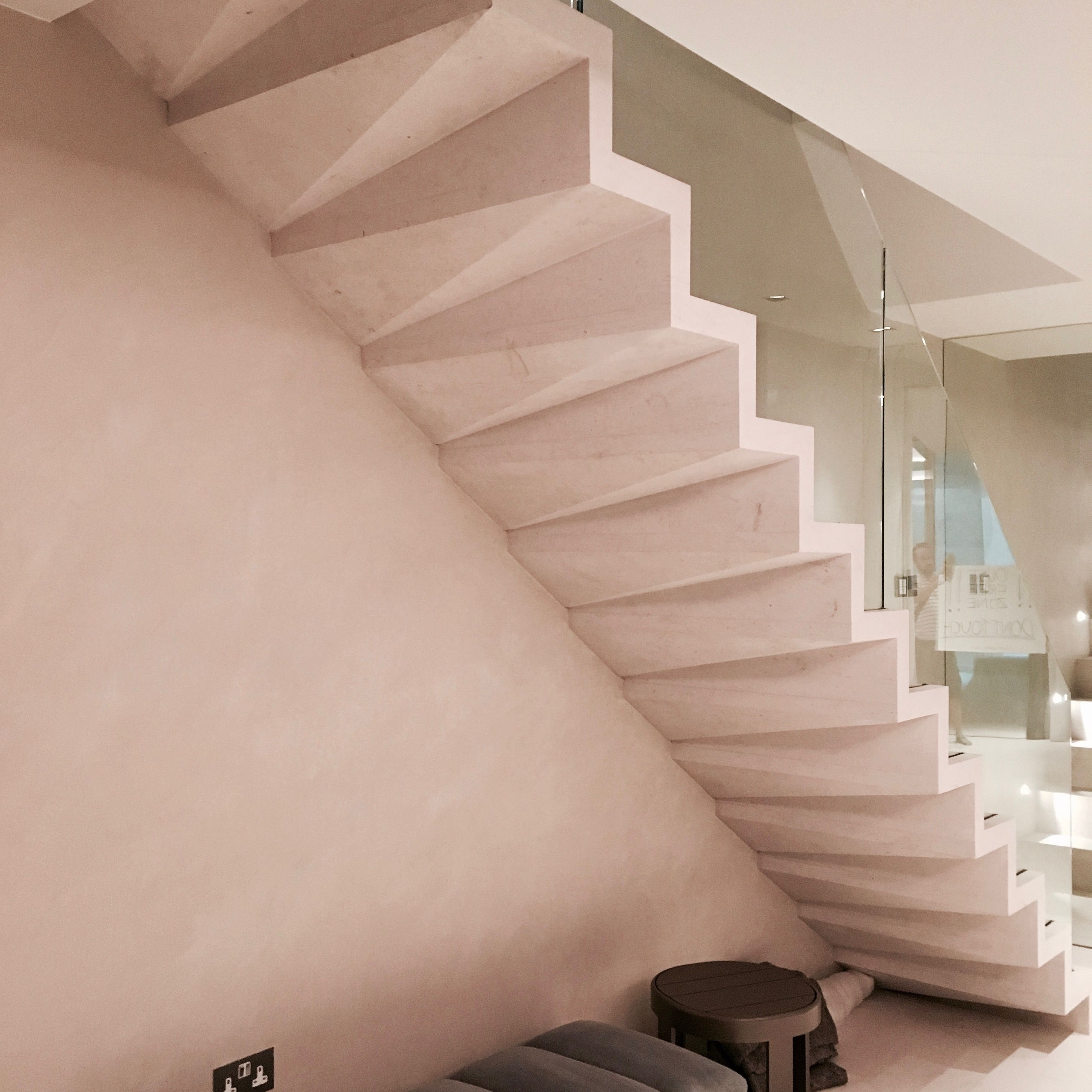 New Stone Staircase With Folded Underside By