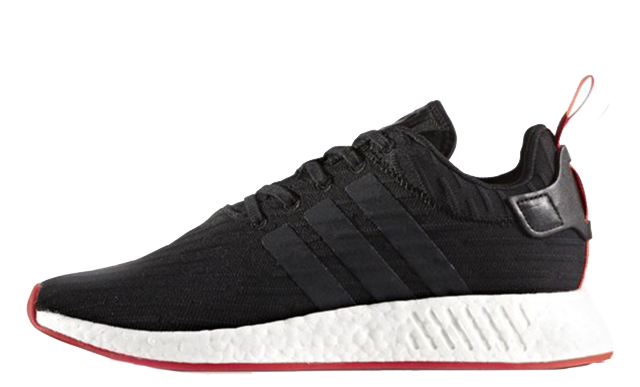 c88b99574 The adidas NMD R2 Black Red showcases a radical new design when compared  with the existing Nomad range. Unlike previous styles which opt for a  Primeknit or ...