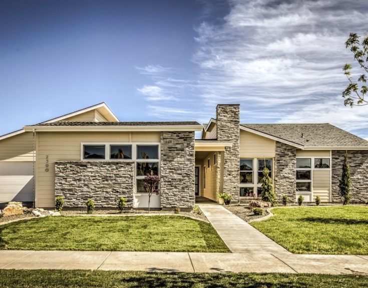 Parade Of Homes Boise Idaho Prairie Style Houses Parade Of Homes Rustic Exterior