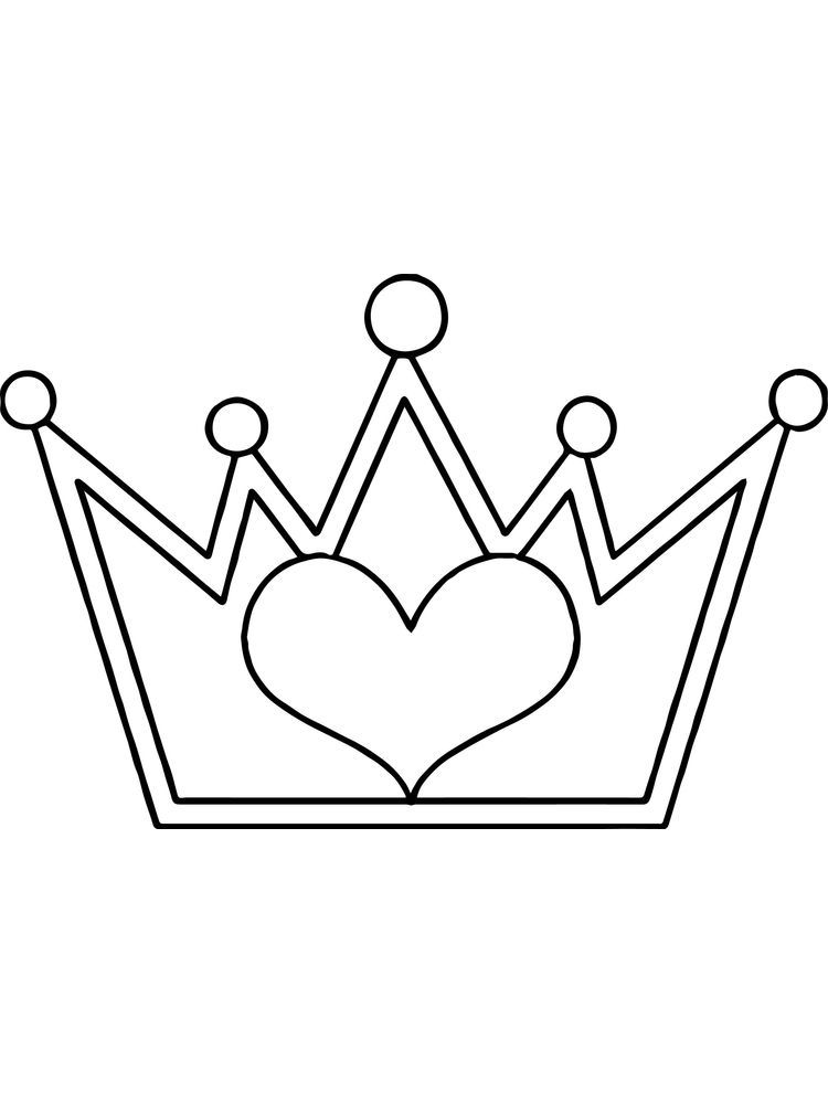 Coloring Pages Heart Crown For A King The Crown Is A Symbol Of His Power By Wearing A Crown He Will Look Mor Coloring Pages Cool Coloring Pages Heart Crown