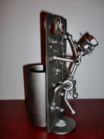 Escalador con porta bol grafos acero inox aisi 304 - Figuras de acero inoxidable ...