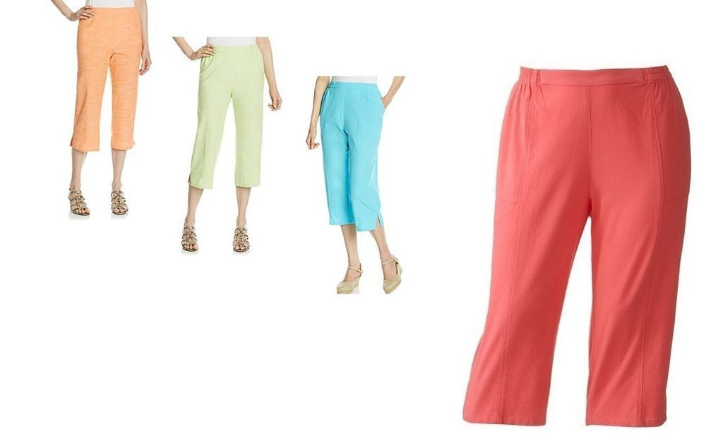 ef90f64e0a2 Cathy Daniels Pull On cotton Capris women s sizes  S