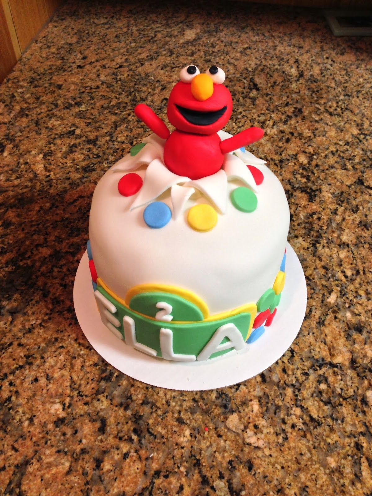 Elmo Surprise Cake Sesame Street cake 7 baking pan 3 layers of