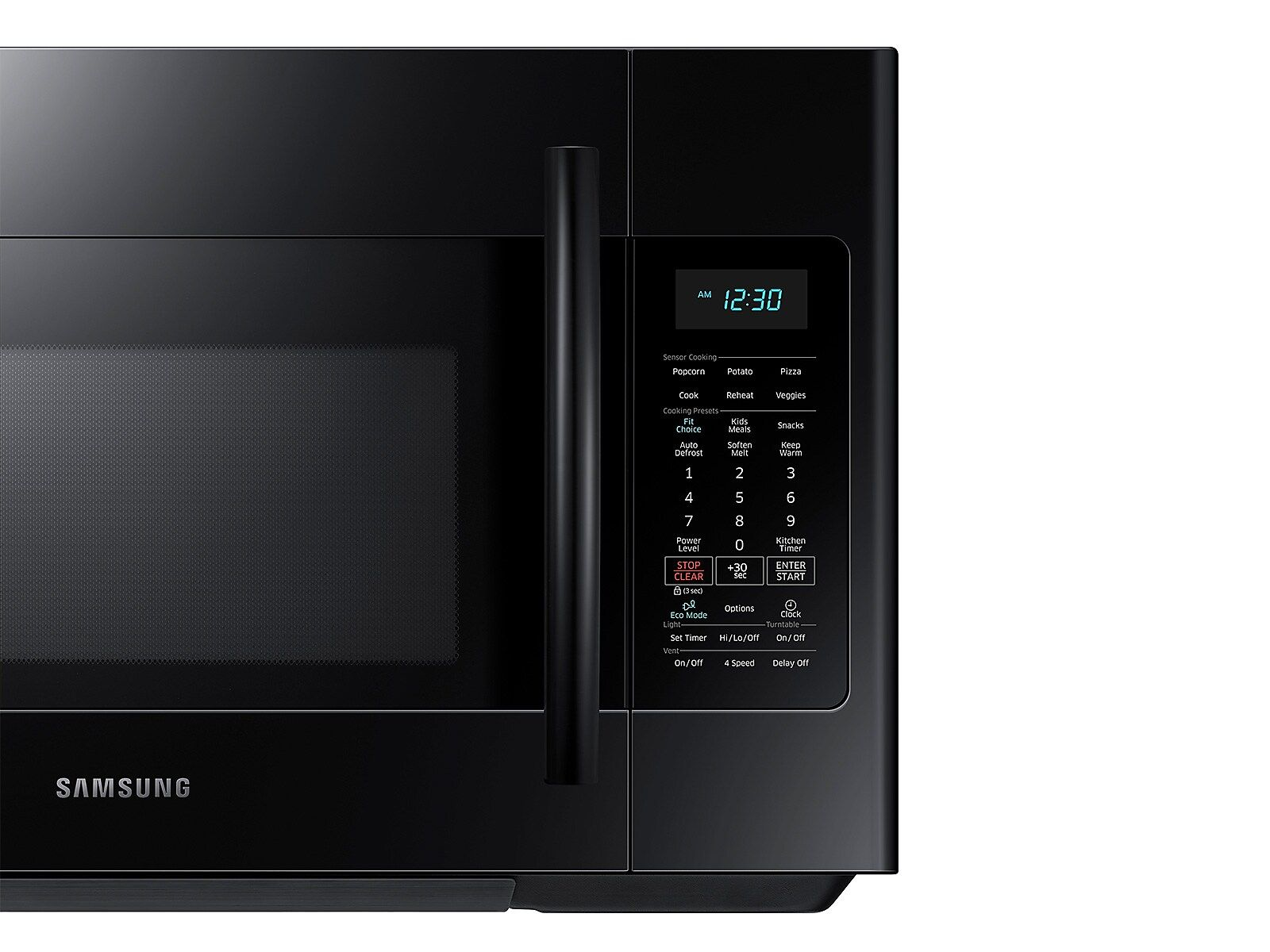 Samsung 1 8 Cu Ft Over The Range Microwave With Sensor