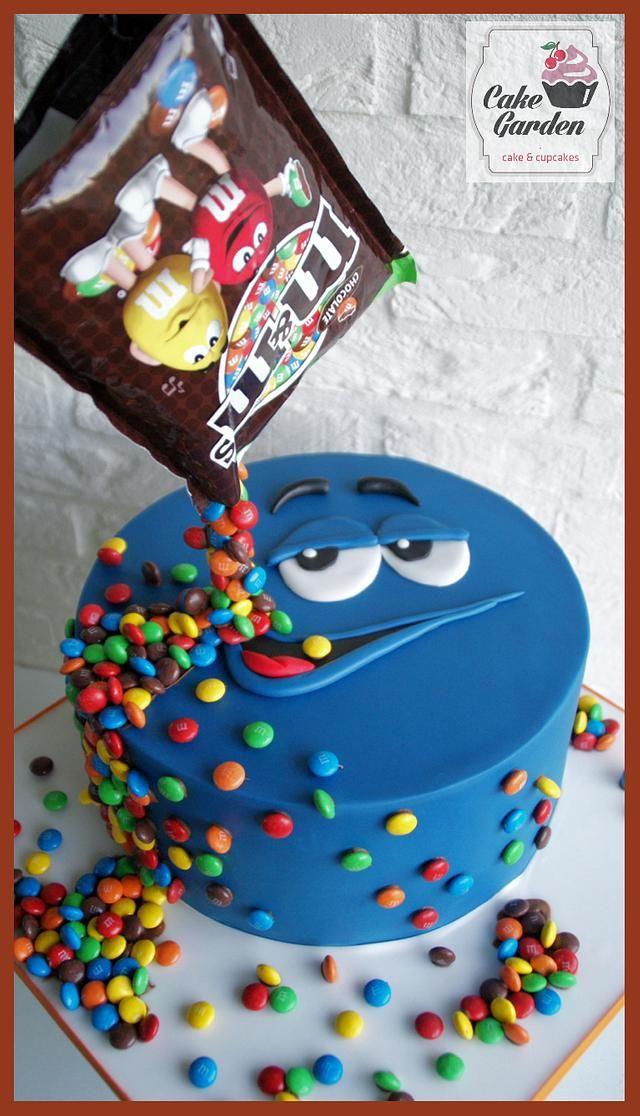 Photo of M&M cake
