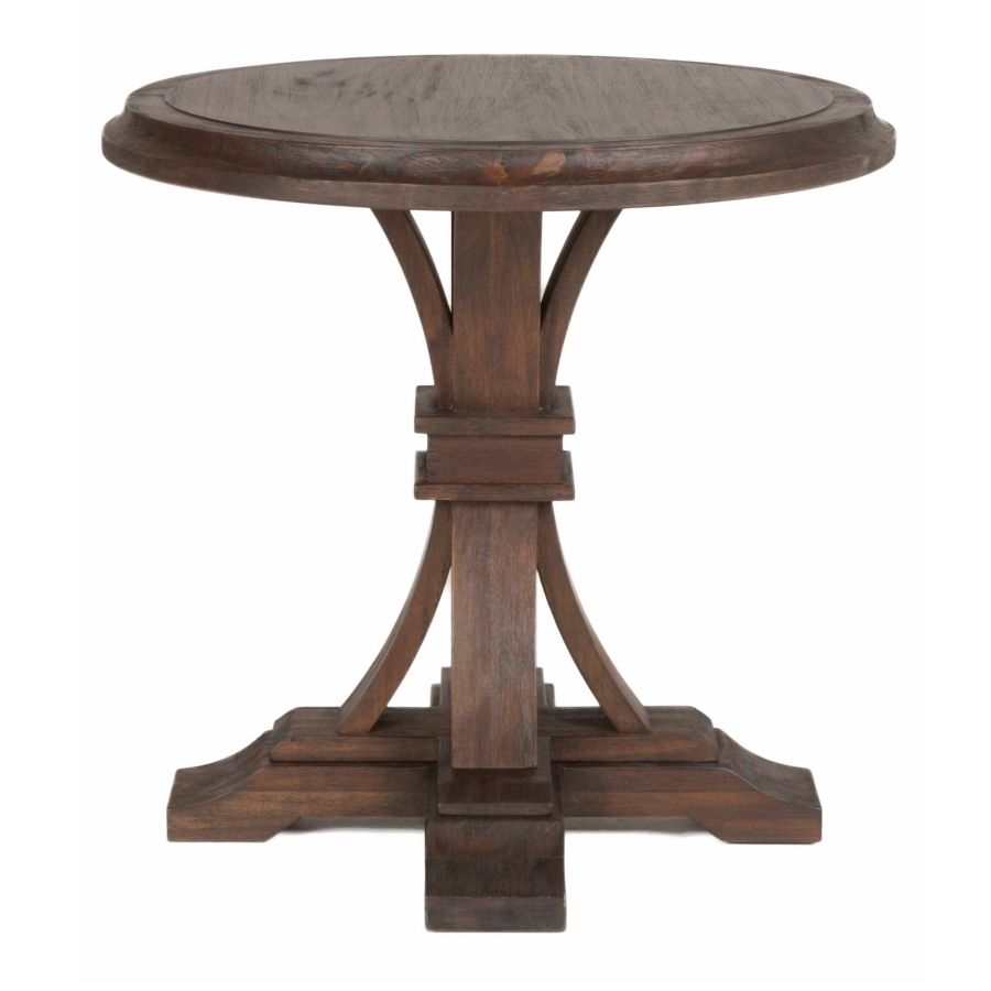 Rustic round coffee table devon round accent table  carlsbad project  pinterest  devon