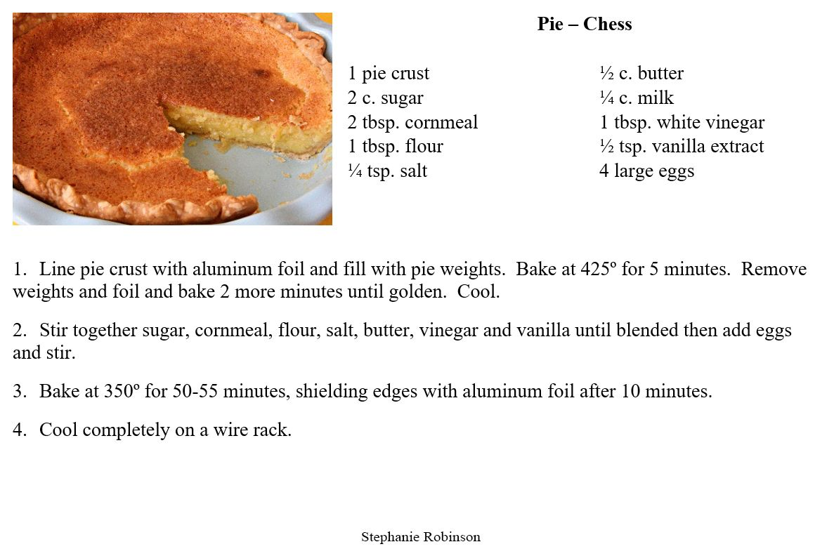 Chess Pie  So simple, but so tasty!