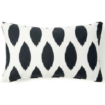 Jiti Pillows African Spot Linen Pillow in Black / White