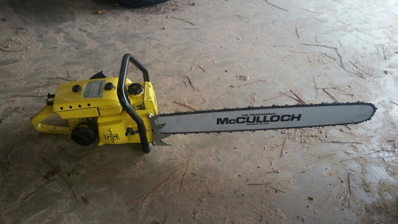 hight resolution of 1960 s mcculloch super 250 with nos 32 bar