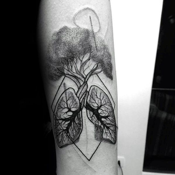 40 Lung Tattoo Designs For Men - Organ Ink Ideas