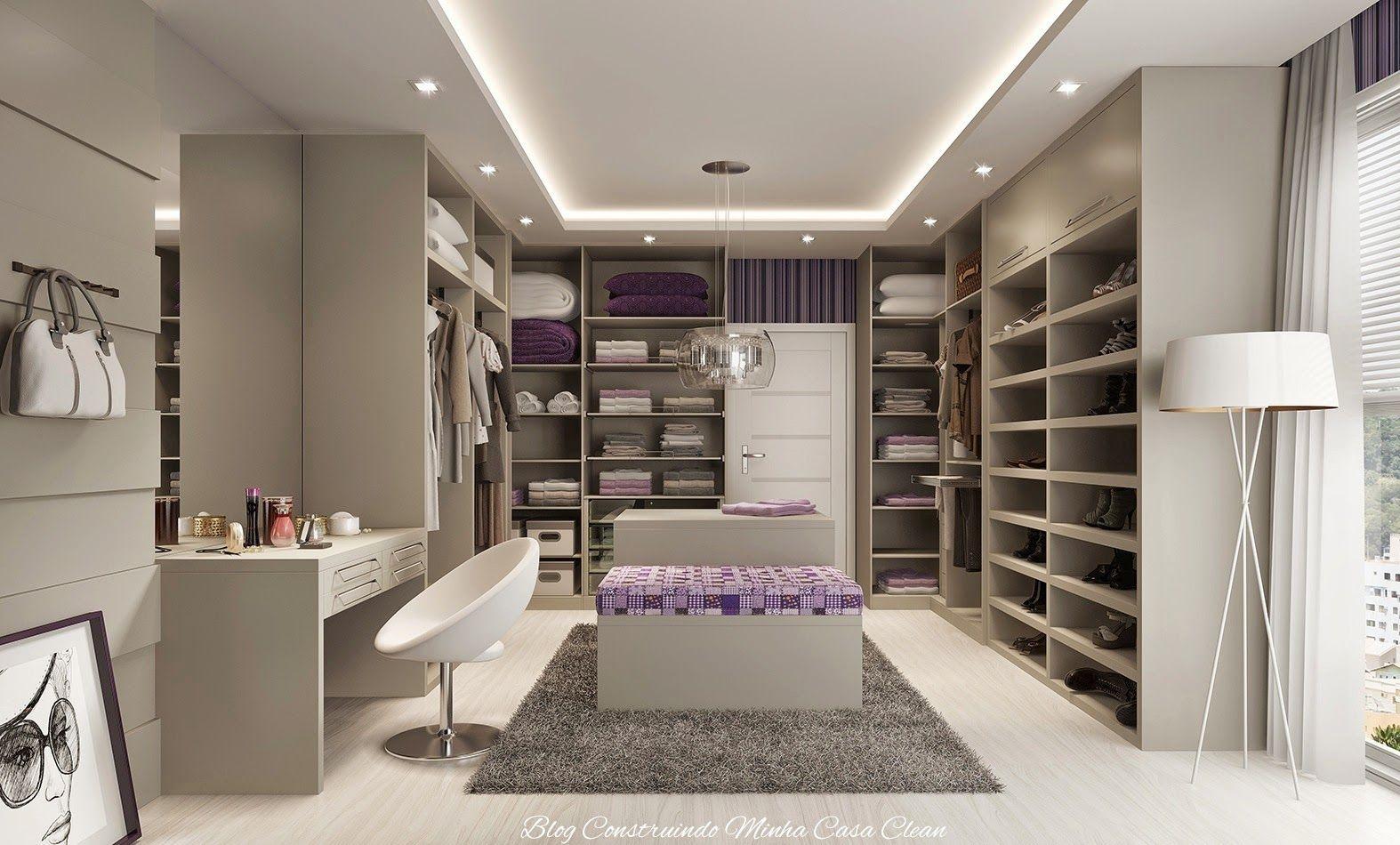 Quarto Moderno Com Closet 6 Jpg 1574 950 Inspira O Para Minha  ~ Quarto Planejado Feminino Moderno