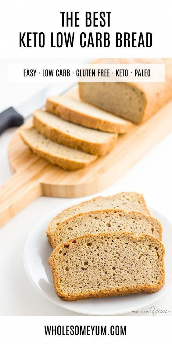 Low Carb Bread Recipe – Almond Flour Bread (Paleo, Gluten-free) - This almond flour…