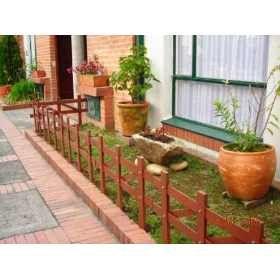 cercos madera para jardin buscar con google