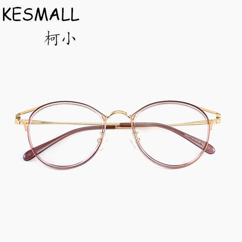 692e388a1f5 Aliexpress.com   Buy KESMALL Alloy Glasses Frame Women Men Metal Optical  Eyeglasses Frames Clear