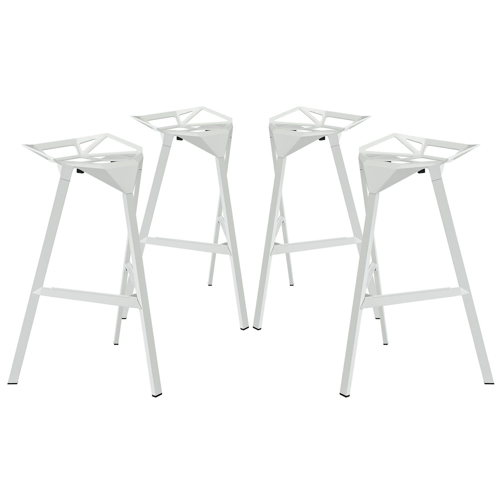 Launch Stacking Bar Stool Set Of 4 Eei 1363 Whi By Lexmod Bar Stools Stool Modern Bar Stools
