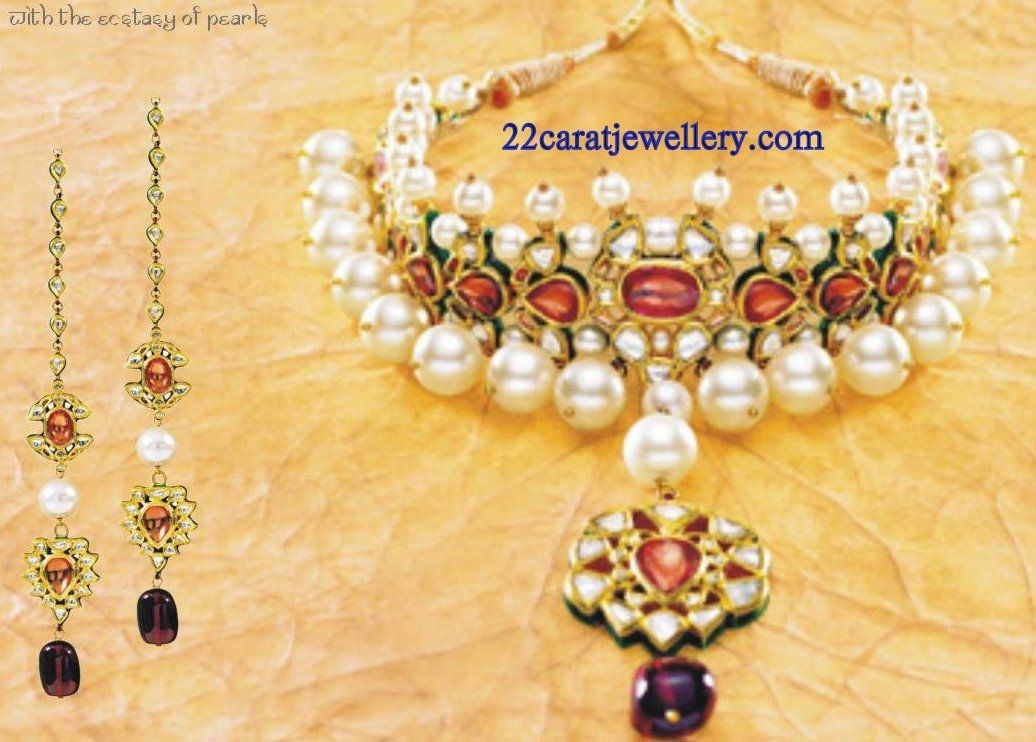 Tanishq Kundan Necklace Set Gallery | Indian jewelry and Collection