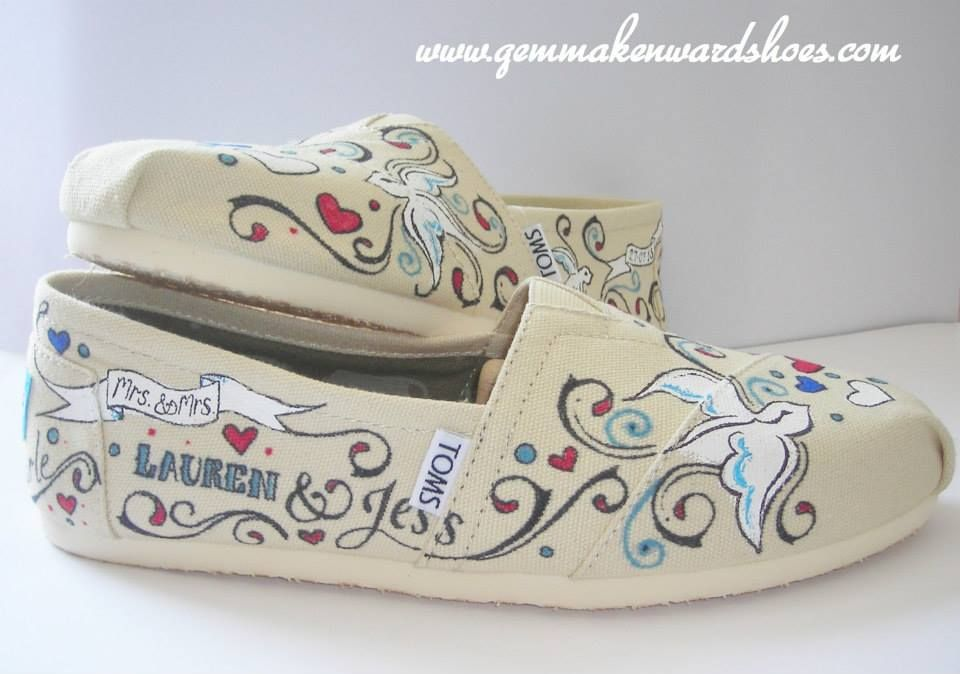 Shoes With Music Notes On Them Hand Painted Comfy Flat Wedding
