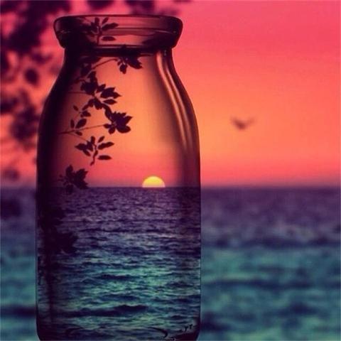 Landscape In The Bottle