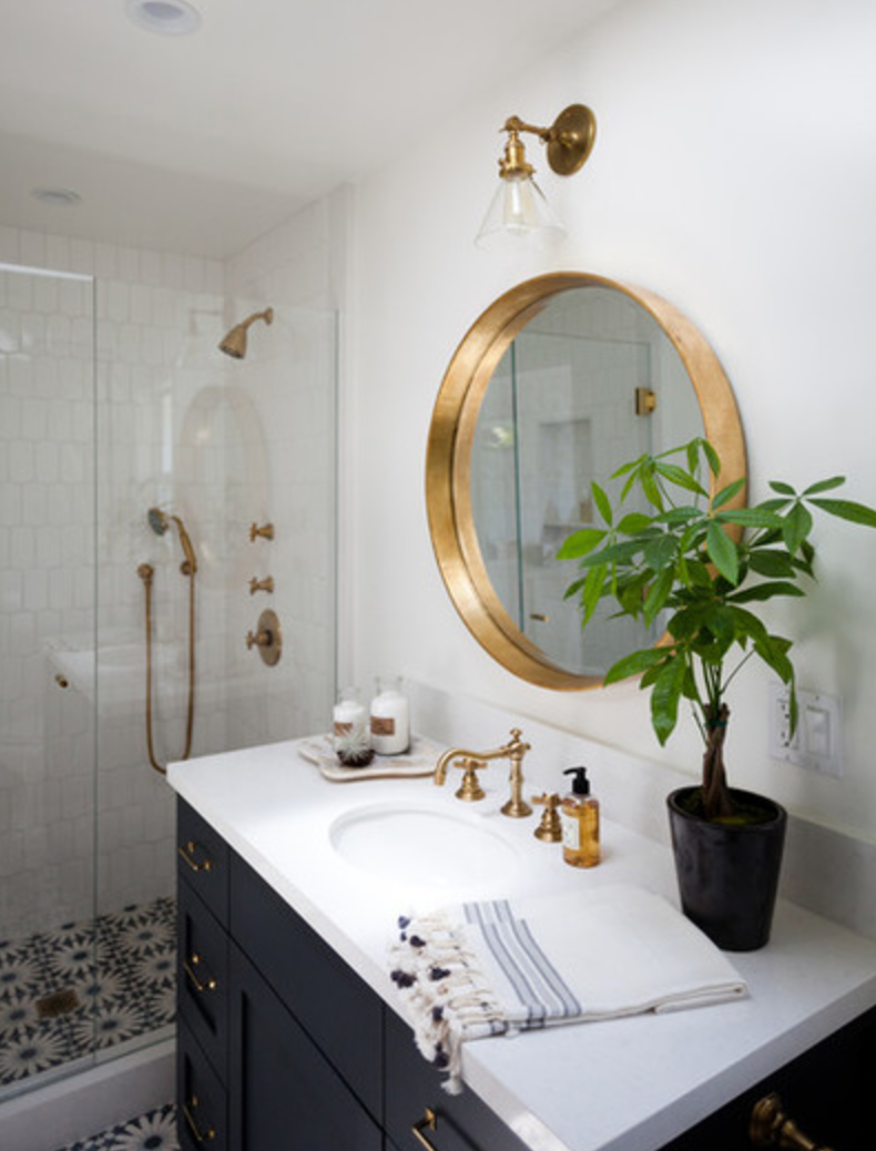Matching All Fixtures Looks Nice Sconce Mirror Faucet
