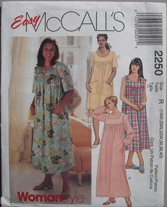 Muumuu Dress Patterns : muumuu, dress, patterns, Dress, Pattern, Patterns, Free,, Loose, Fitting, Dresses,, Sewing, Women