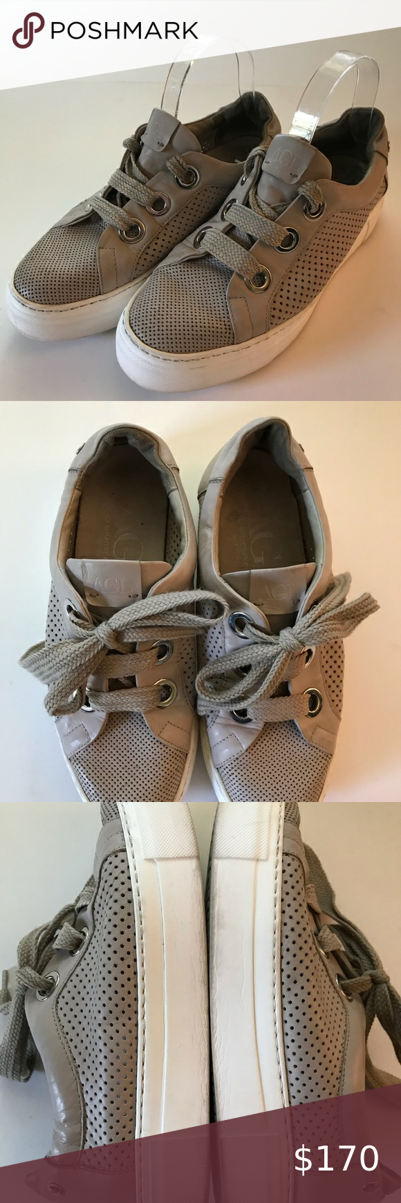 AGL Perforated platform sneaker size 8
