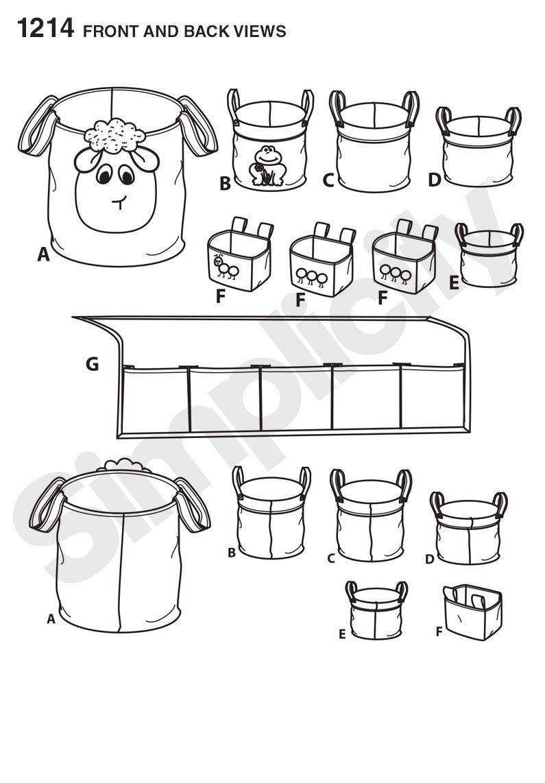 Simplicity Pattern 1214 Childrens' Room Organizers