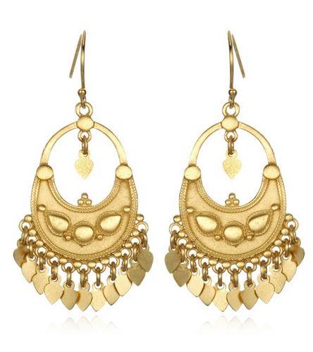 Satya Jewelry Lotus Flower Petal Chandelier Earrings at YogaOutlet.com - Free Shipping $79.95