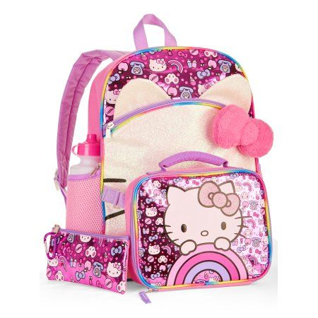 Hello Kitty 5-Piece Backpack Set With Lunch Bag | Products