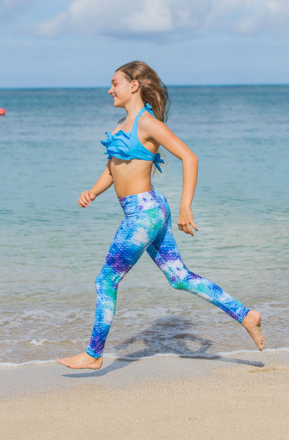 78b51a4612a78 Watercolor Mermaid Scale Leggings for Girls and Women | by Fin Fun Perfect  for everyday use, and ideal as activewear!
