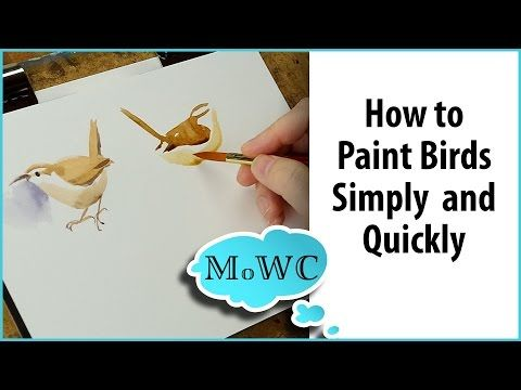 How To Paint Birds In Watercolor Simply Quickly And
