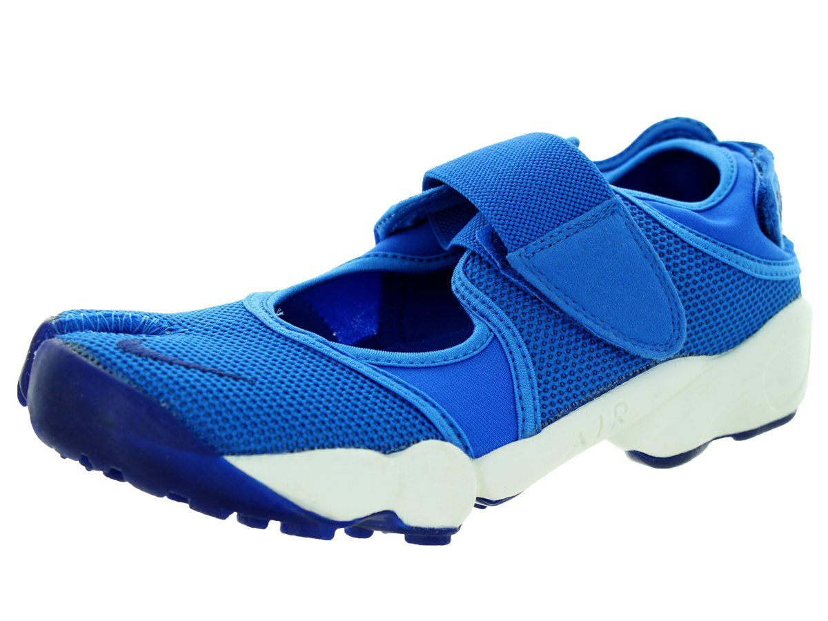 Nike Women's Air Rift Soar/Deep Royal Blue Running Shoe 6 Women US. Hook-and-loop closures at the mid-foot and heel. Split-toe design for a barefoot feel.