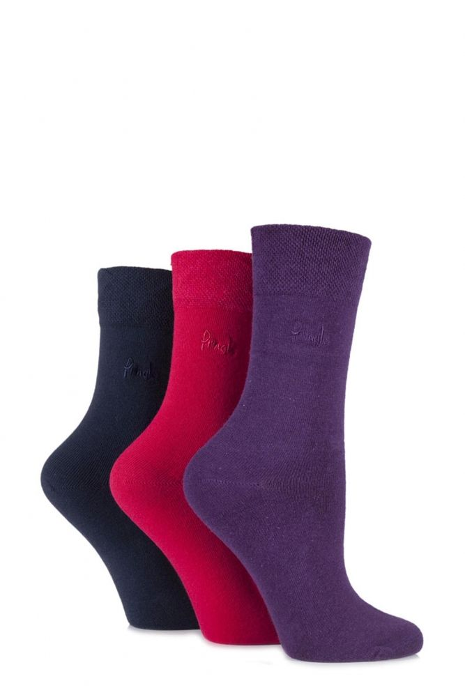 014e03b31 Pringle Jean Plain Gentle Grip Cotton Socks £7.99 Cashmere Socks, Sock  Shop, Black