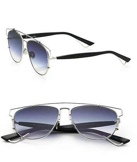 d1fb751bf66d Wardrobe Query  Joie Chavis s Snapchat Dior Technologic 57MM Silver Pantos  Sunglasses