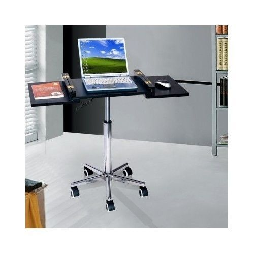 Merveilleux Portable Computer Desk Mobile Laptop Cart Office Work Station Table Stand  #TechniMobili