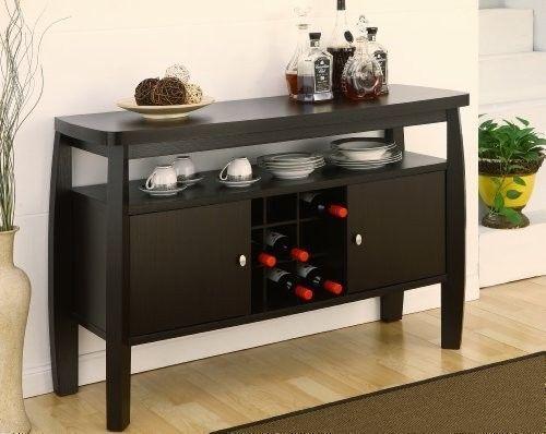 Dining Room Storage Modern Buffet Cabinet Furniture Wines Holder Rack Organizer