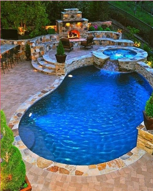 Pool Hot Tub Combo