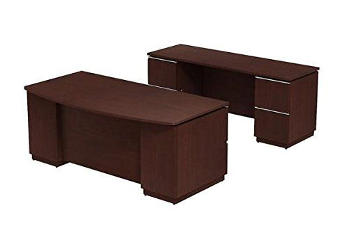 Bush Executive Desk Credenza Set 72 Bush Business Furniture Furniture Double Pedestal Desk