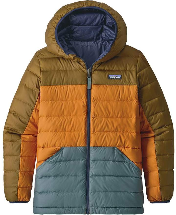 d33e287643d3 Patagonia Reversible Down Hooded Sweater - Boys  in 2018