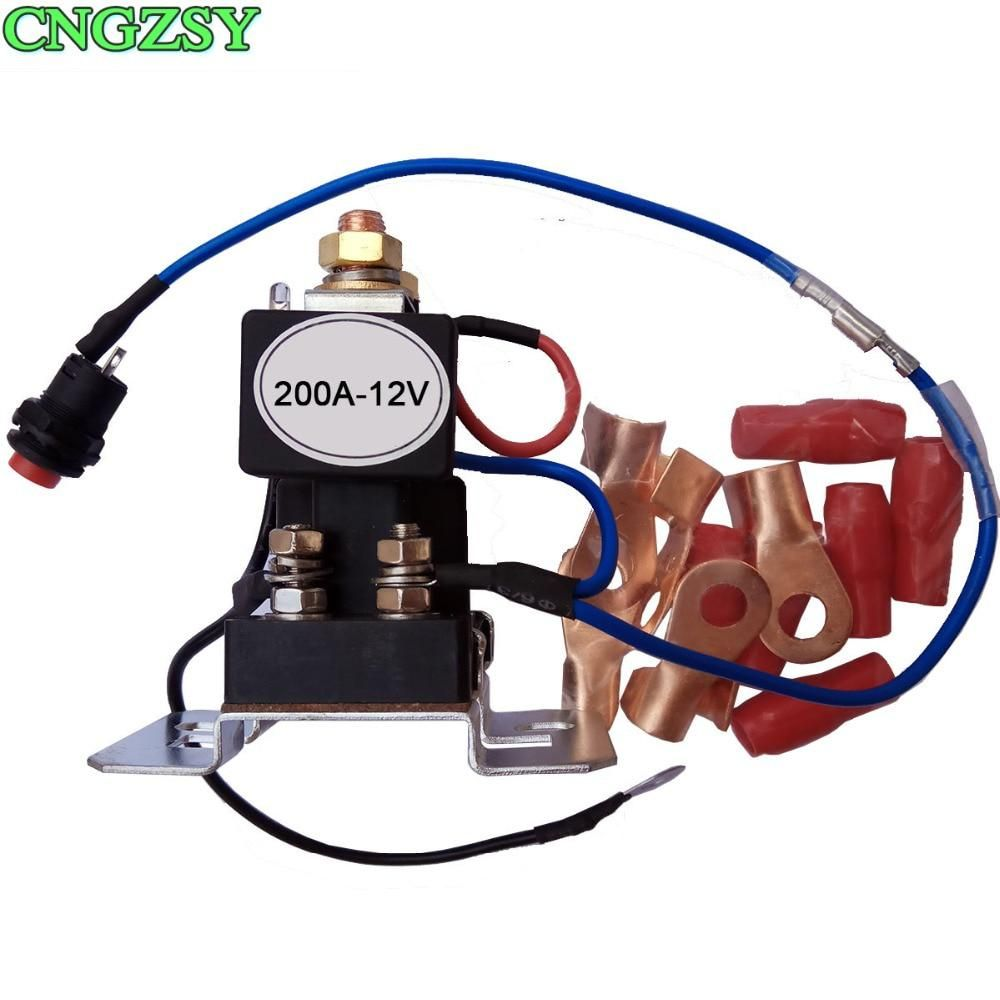 200 AMP Battery Isolator+Relay 4 Terminal Dual Battery ... Dc Wiring Terminal Relay on