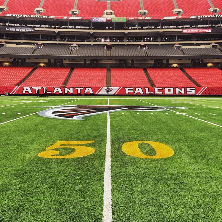 Atlanta Falcons On Instagram The Georgiadome Is Looking Ready Just A Few More Days Riseup Falcons Atlanta Falcons Falcons Rise Up Falcons Football