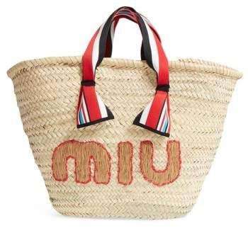 Miu Miu Paglia Straw Top Handle Tote   Woman s Bags   Pinterest ... e1feccf57a