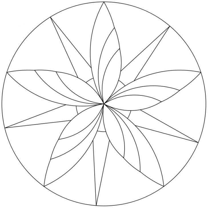 Mandala-Ausmalbild Nr. 5 | Mandalas | Mandala malvorlagen ...