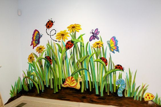 Thinking about the nursery!! Garden Mural | Project | Pinterest ...