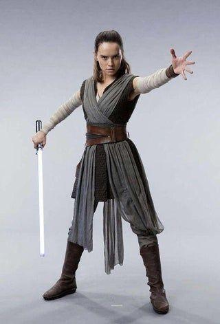 Rey Costume-The Last Jedi-Thrift Store DIY | Jedi costume ...