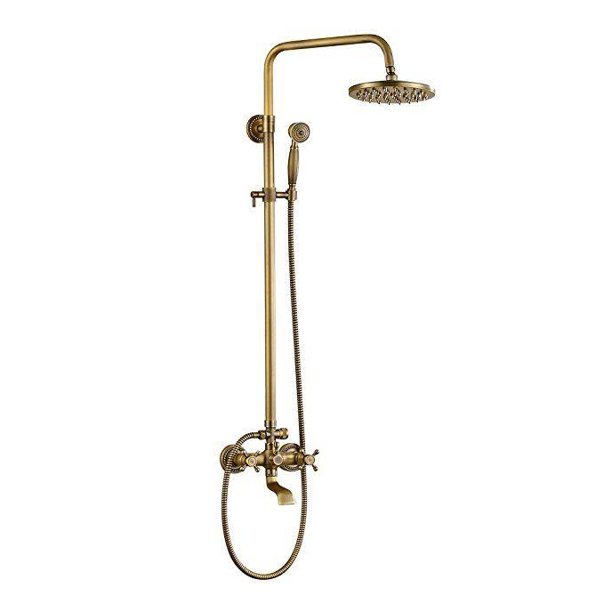 Rovate Bathroom Rain Mixer Shower Combo Set Wall Mounted Height