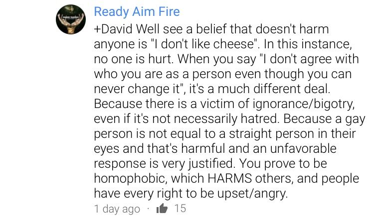 I found this comment on YouTube and decided to post it. People need to understand this. Someone was saying that they completely disagree with gay marriage and think that gay people are sick, but wouldn't vote against (or for) gay marriage
