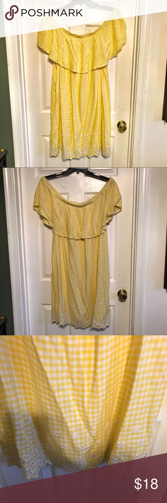 Old Navy Off Shoulder Yellow Dress Yellow Dress Yellow And White Dress Navy Midi Dress [ 1740 x 580 Pixel ]
