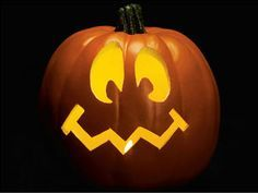 Goofy Face Pumpkin Stencil Scary Pumpkin Carving Pumpkin Carving Cute Pumpkin Carving