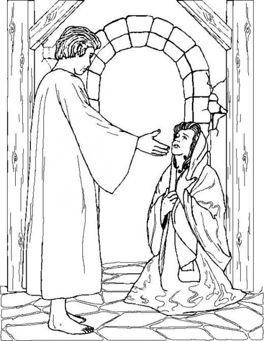 Christmas Angel Printables Sunday school and Craft - copy coloring pages of joseph and the angel